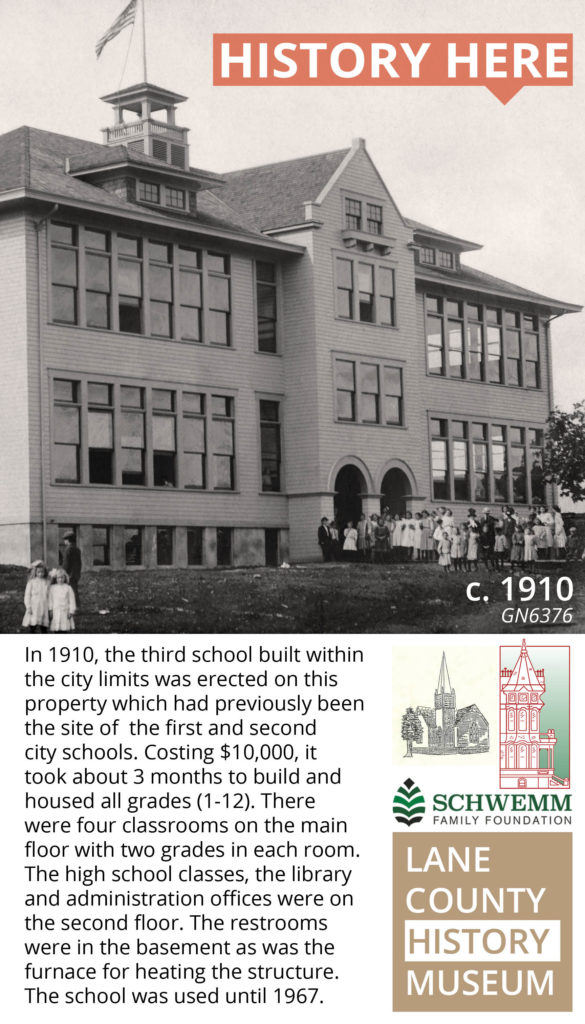 History Here poster of a school building in Creswell
