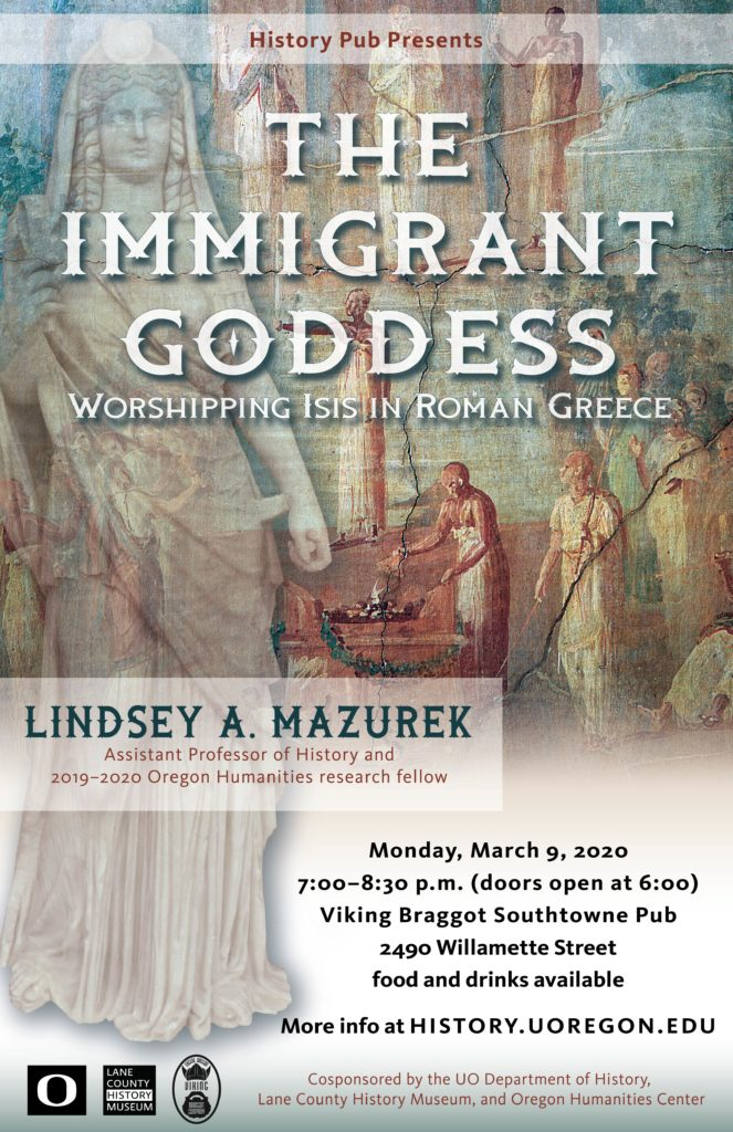 The immigrant Goddess History pub poster