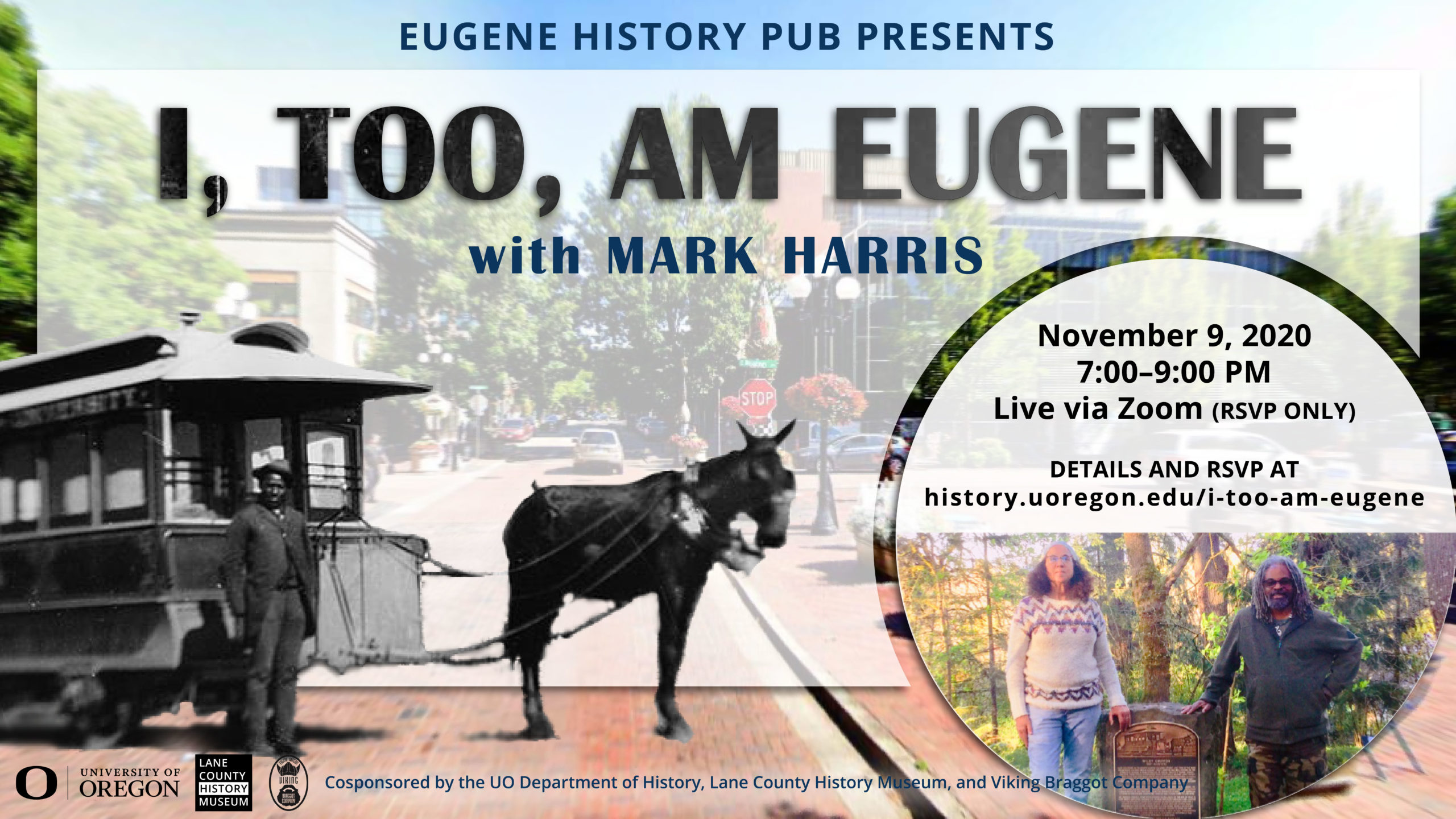 I, Too, am Eugene. History pub poster