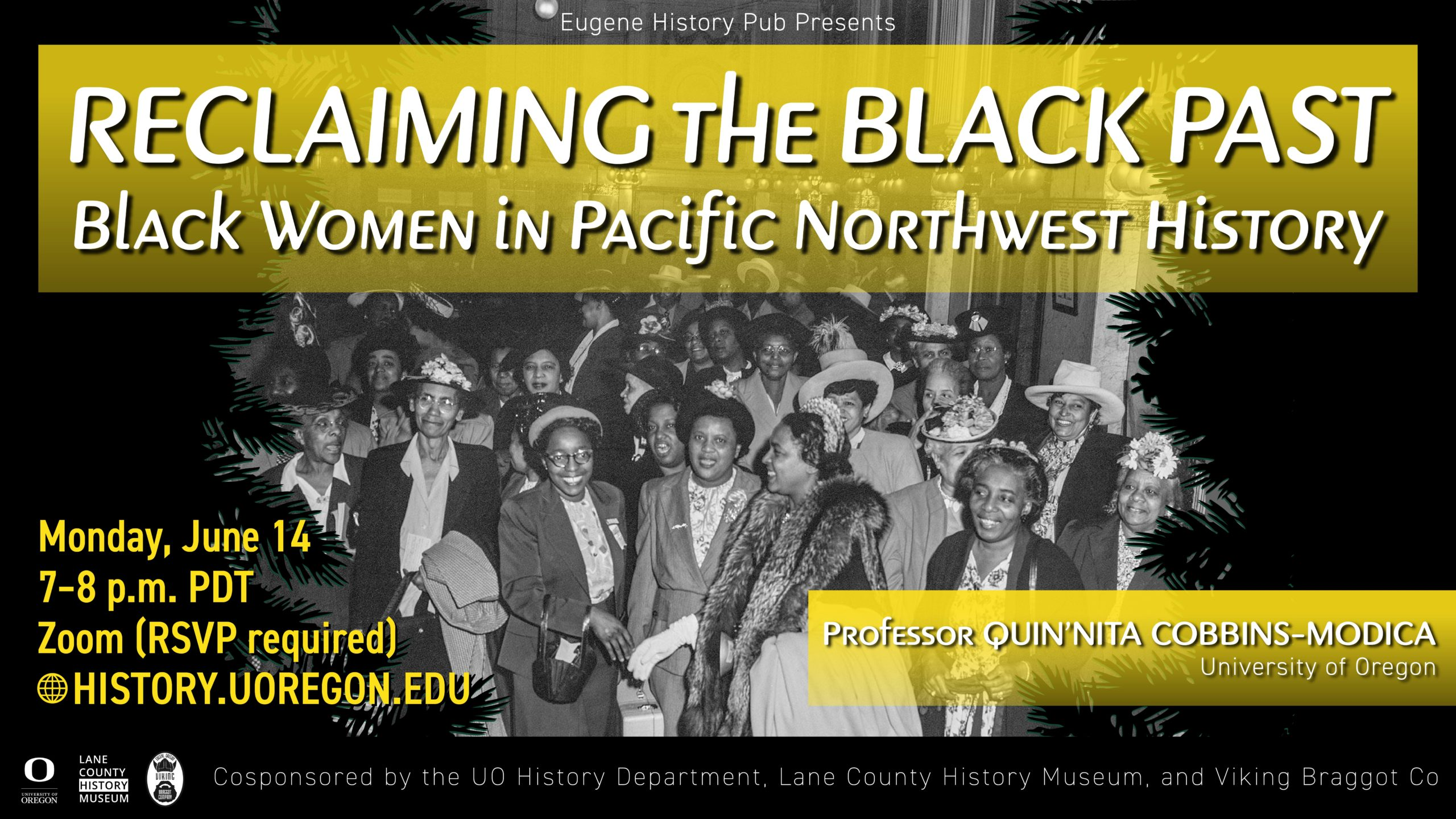 Reclaiming the black past. History pub poster, June 14